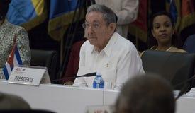 Kubański prezydent Raul Castro przy otwarciem 22nd spotkanie skojarzenie Karaibskich stanów ministerialny rada Obraz Stock