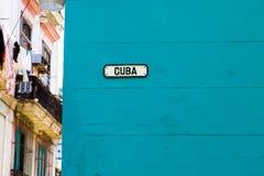 Kuba-Straße in Havana, Kuba Stockfotografie