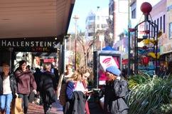 Kuba-Straße in Wellington New Zealand Lizenzfreie Stockfotografie