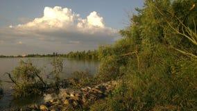 Kuban τοπίων ποταμός Στοκ εικόνες με δικαίωμα ελεύθερης χρήσης