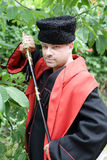 Kuban Cossack with a saber Royalty Free Stock Photography