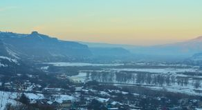 Kuban valley in evening Stock Images