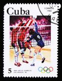 Kuban visar volleyboll, 23. sommarOS, Los Angeles 1984, USA, circa 1983 Fotografering för Bildbyråer
