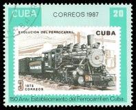 Kubanische Lokomotive in der Bewegung Stockfoto