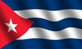 Kubanische Markierungsfahne Lizenzfreie Abbildung