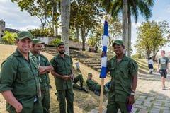 Kubanische revolutionäre Soldaten Stockbild