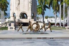 Kubanische Soldat-Änderung von Militärfriedhof Fidel Grave Santiago De Cuba Schutz Sanga Ifigenia stockfotos