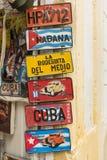 Kubanische touristische Autoplatten Lizenzfreies Stockbild