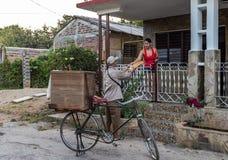 Kubanischer Brot-Lieferer Stockfotografie