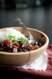 Kubanischer Reis und Bohnen Stockbild