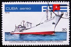 Kubanischer Transporter- und Kühlschrankschleppnetzfischer, Fischereiflotte serie, circa 1978 Stockfoto