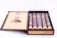 Kubanischer Zigarresatz Lizenzfreie Stockfotos