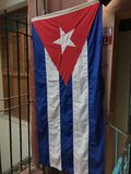 Kubanisches Flaggen-Hängen Stockbild