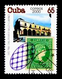 Kubanisches Gebäude, Stempel-Tag-serie, circa 2000 Stockfoto