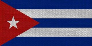Kubansk flagga av Kuban med tygtextur Royaltyfria Bilder