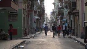 kubansk gata lager videofilmer