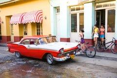 Kubansk gata, Trinidad Arkivfoto