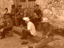 Kubansk musikband arkivfoton
