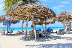 Kubansk strand i varadero Arkivfoto