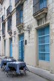 kubansk utomhus- restaurang Arkivbild
