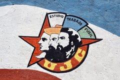 Kubansk väggmålning Royaltyfria Foton