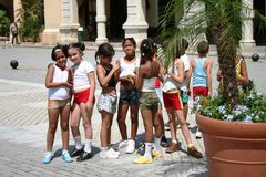 kubanska barn Arkivfoton