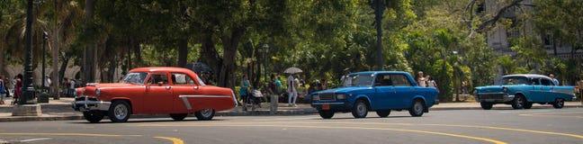 Kubanska bilar Arkivfoto