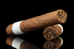 kubanska cigarrer Arkivbilder
