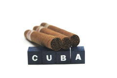kubanska cigarrer Royaltyfri Bild