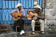 kubanska musiker Arkivfoto