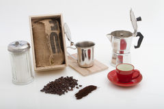 Kubanskt kaffe colador de cafe arkivbild