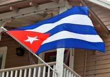 Kubanskt vinka för flagga Royaltyfria Foton