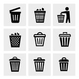 Kubeł na śmieci ikona Zdjęcia Royalty Free
