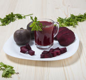 Kubek beetroot sok Obraz Royalty Free