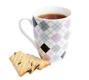 Kubek herbata z ciastkami Fotografia Royalty Free