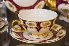 kubek herbaty spodeczków 3 Obraz Royalty Free