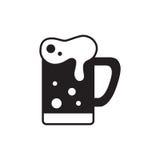 Kubek piwnej ikony cienka linia dla sieci i wiszącej ozdoby Zdjęcia Royalty Free