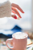 Kubek z marshmallows, Zdjęcia Stock