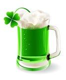Kubek zielony piwo royalty ilustracja