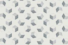 Kuben för repetition för bakgrund för den Digital konstillustratören används som en bakgrundsbild för målning som annonserar mass royaltyfri illustrationer