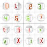 kuben figures volym för stilsortsteckenvektorn Arkivbild