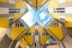 Kuben inhyser Rotterdam Nederländerna Royaltyfria Bilder