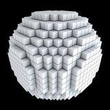 kuber 3d gjorde spheren Fotografering för Bildbyråer