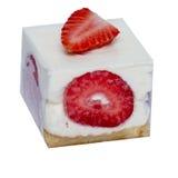 Kuber av glass med frukt och muttrar av olika färger Royaltyfri Fotografi
