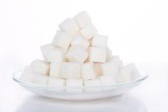 Kuber av socker Fotografering för Bildbyråer