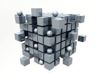 kuber 3D stock illustrationer