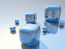 kuber 3D royaltyfri illustrationer
