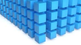 kuber för blått 3d Royaltyfri Fotografi