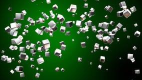 Kuber för TV-sändningflyghigh tech, gräsplan som är företags, Loopable, 4K