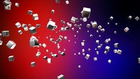 Kuber för TV-sändningflyghigh tech, mång- färg som är företags, Loopable, 4K